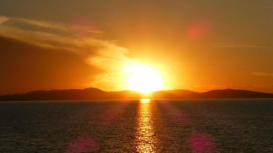 Hotel Las Balsas : Sunset Over Lake Titicaca From The Balcony