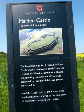 Welcome sign for Maiden Castle