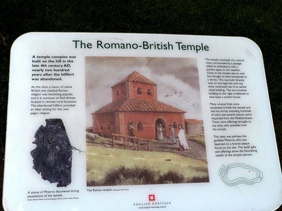 Maiden Castle: Information point for the Romano-British Temple