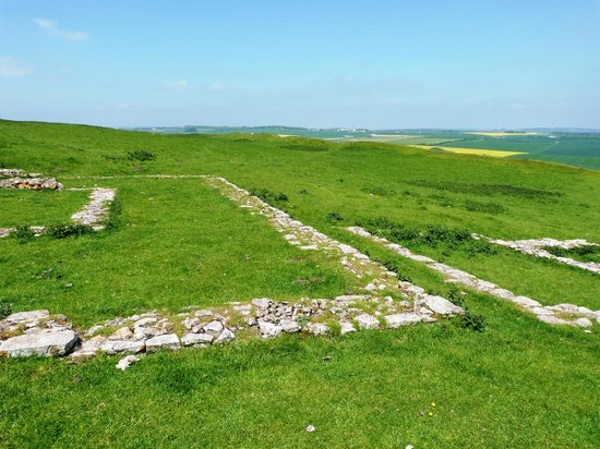 Maiden Castle: Romano-British Temple remains / Roman Ruin