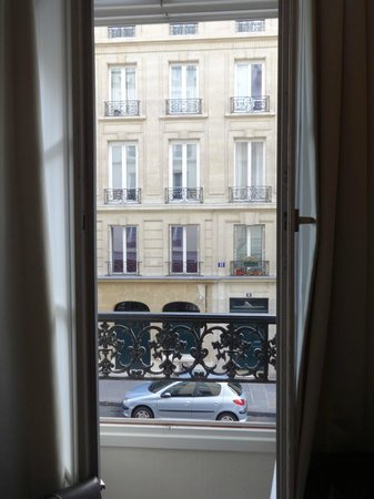 Hotel le Senat : Floor to ceiling window in room...