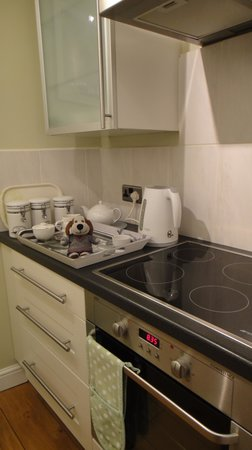Monkbridge Court Holiday Apartments: Baxter with the tea tray