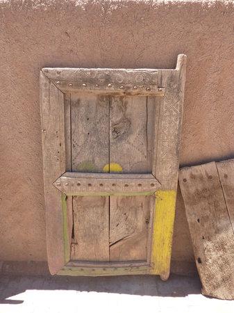 The Oasis Museum: traditional wooden door