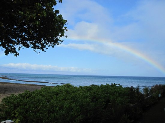 Hale Kai Oceanfront Condominiums: Another rainbow viewed from our room