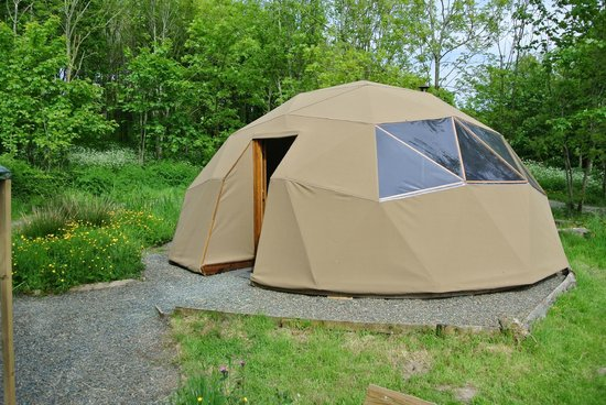 Trellyn Woodland Camping: Dome from home