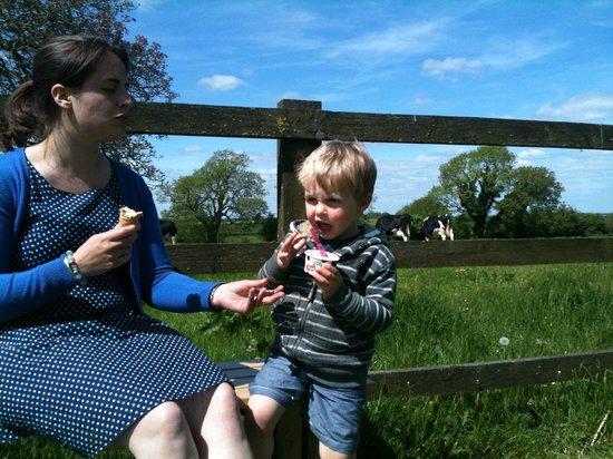 Marshfield Farm Ice Cream: Charlie and Mum