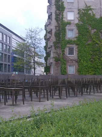 Leipzig, Tyskland: holocaust memorial lipsia - istallazione
