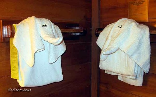 "The Campsites at Disney's Fort Wilderness Resort: Towel animals from ""mouse"" keeping:-)"