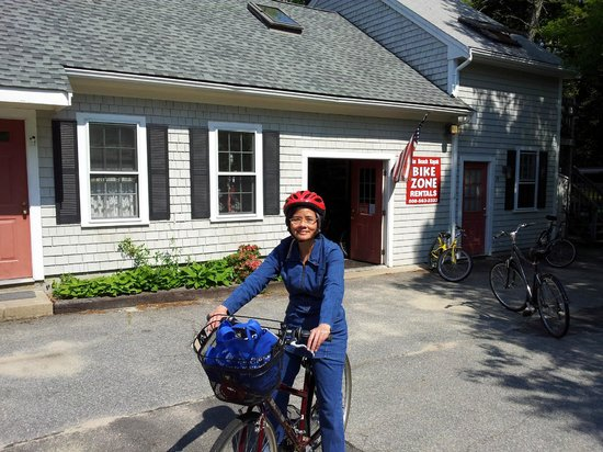 Falmouth, MA: We rented bikes from the Bike Zone