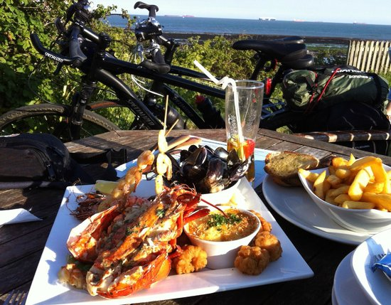 The Crab & Lobster Inn : Seafood platter with a view