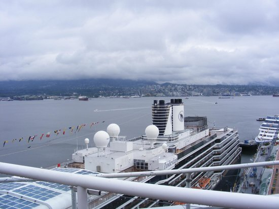 Pan Pacific Vancouver: view from pool deck