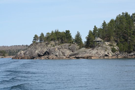 Pure Michigan Boat Cruises: View just north of Marquette ~ there's an eagle's nest nearby