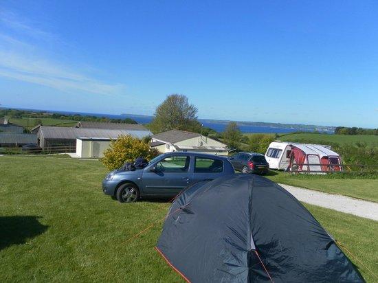 Penhale Caravan and Camping Park : View of Penhale Campsite, near Fowey