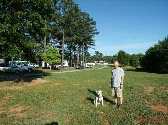 Spartanburg NE/Gaffney KOA: Backside of the campground