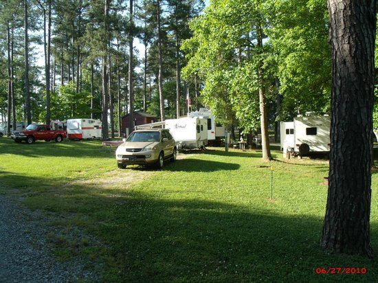 Spartanburg NE/Gaffney KOA: Front of Campsite
