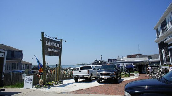View of Landfall restaurant, Woods Hole, MA