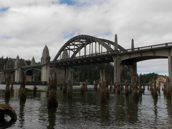 Siuslaw River Coffee Roasters: Can't pass up a picture of the bridge from just outside