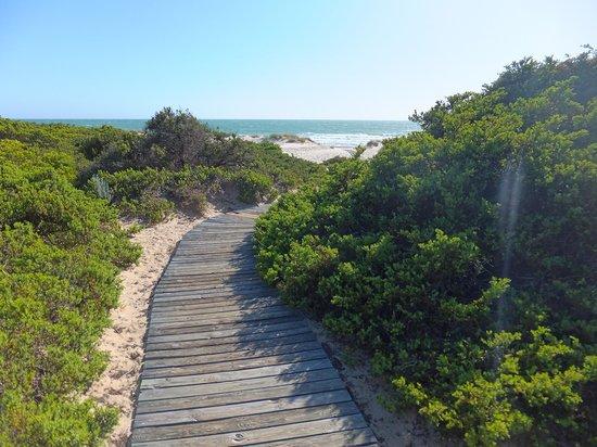 Aparthotel las Dunas: Accès à la plage
