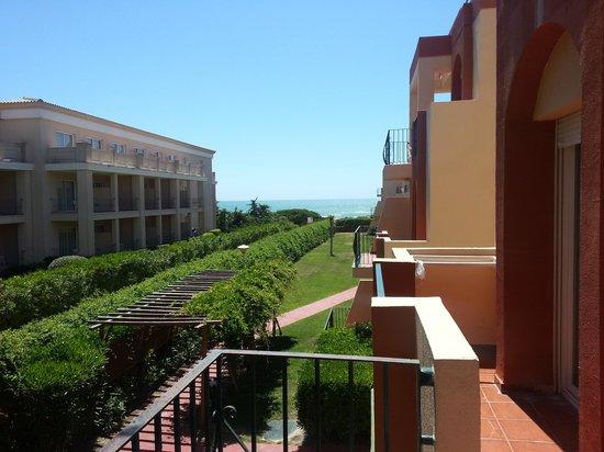 Aparthotel las Dunas: Vue depuis la terrasse