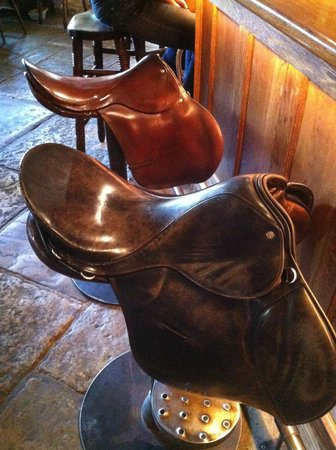 The Feathered Nest Country Inn: The Horse Themed Chairs