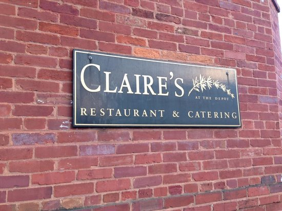 Claire's at the Depot: The restaurant is the actual former train depot with 2 cabooses in back.