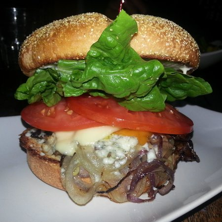 "Brewster's Fine Foods : The amazingly delicious ""Kelly"" veggie burger. I get this every week :)"
