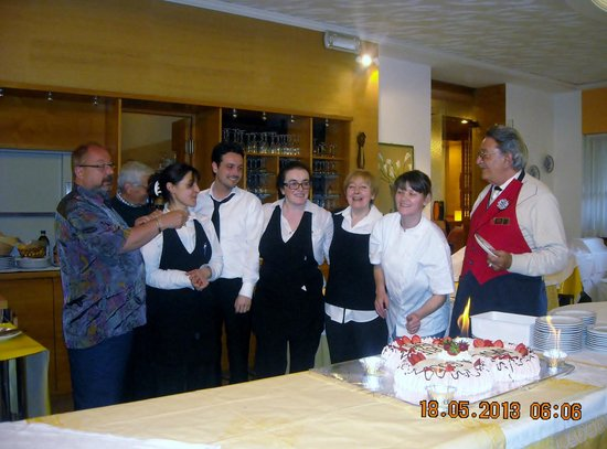Hotel Milano: the wonderful staff with david one of drivers far left