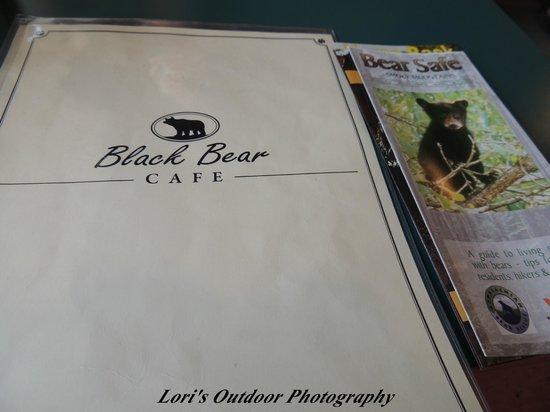 Black Bear Cafe: menu