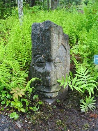 Coastal Maine Botanical Gardens: Easter Island Stone Head