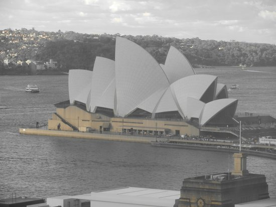 Shangri-La Hotel Sydney: view from our room