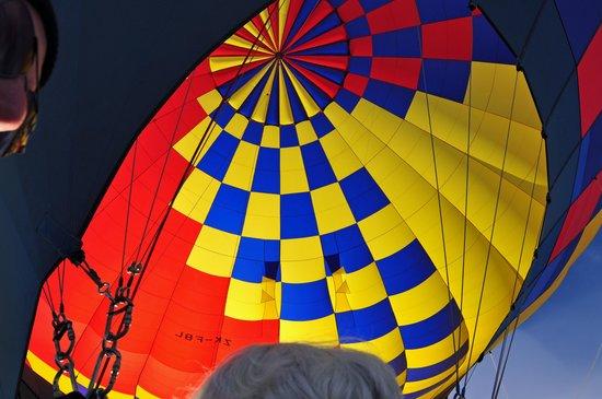 Sunrise Balloons: Balloon interior