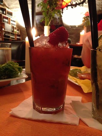 La Hacienda: Strawberry Caiprinha