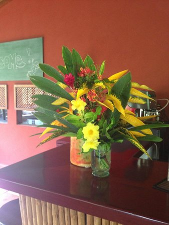 Hotel Cantarana : Local flowers picked by the owners on display.