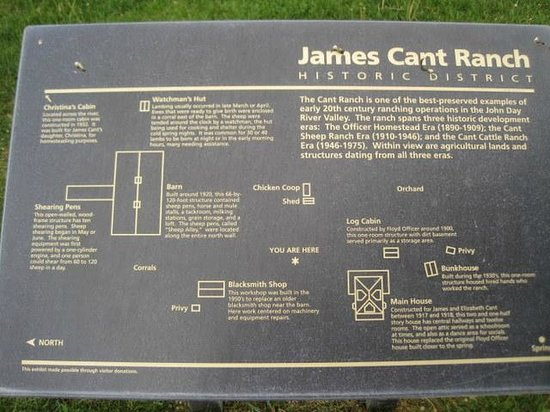 John Day Fossil Beds National Monument : Description of James Cant Ranch