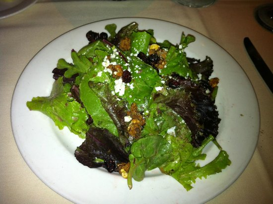 Roaring Fork: Mixed green salad with candied walnuts and feta cheese