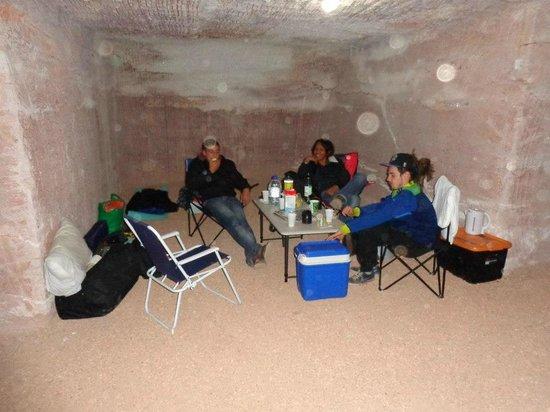 Riba's Underground Camping: Underground camping area