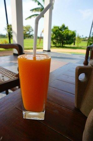 Serene Park: Fresh fruit juice from the garden