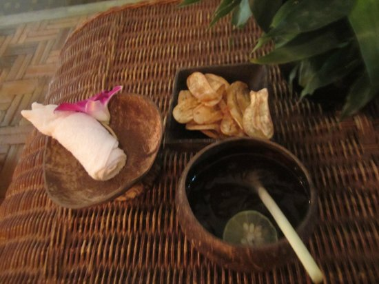 Villa Medamrei: 웰컴드링크와 바나나칩