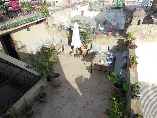 رياض دار طامو: La terrasse