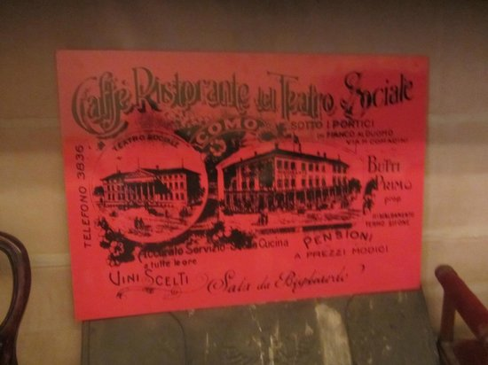 Ristorante Sociale: Old sign in the restaurant