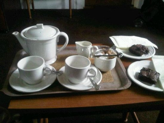 Hepworth Guest House: our warm, delicious welcome.... home made brownies