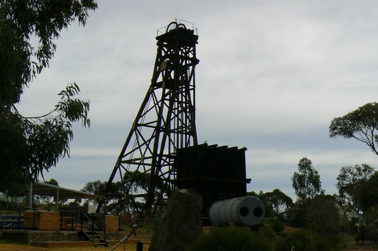 Mining Hall of Fame: An old mining headframe at Hannans North gold mine.