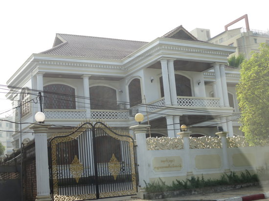 Aung San Suu Kyi House : The House As Seen Outside the Fence.