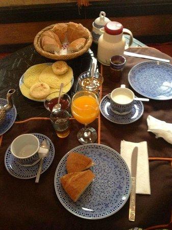 Riad Al Andaluz: Le petit déjeuner