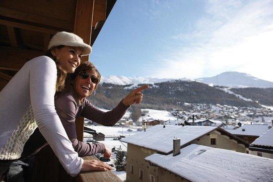 Hotel Concordia: Vista invernale dalla camera