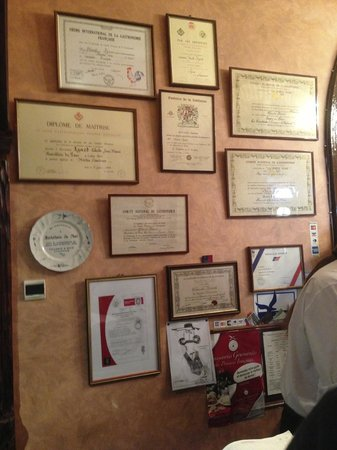 Hostellerie du Parc: some of the many awards for this restaurant