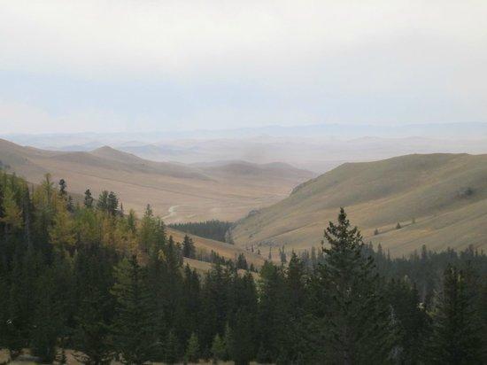 Manzshir Monastery: view from monastery