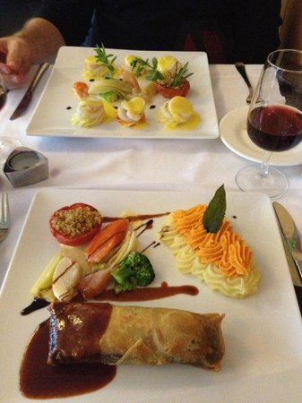 Le Silex : These were the dishes I described. One more thing, the vegetables were unlike any I have had!