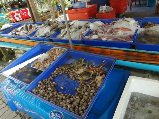 Monthathip Restaurant Select From An Array Of Fresh Seafood No Ploblem