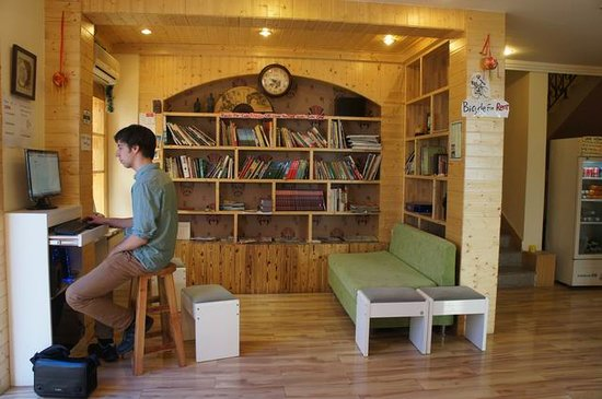 Riverside Hostel: Our library